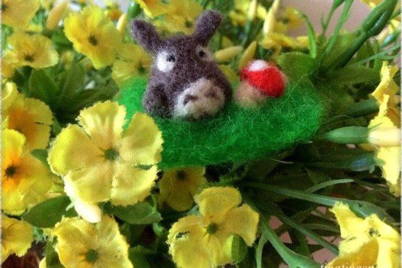 DIY Figur aus Filzwolle: Totoro