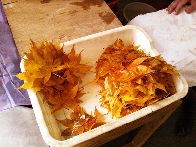 Frittierte Ahornblätter – Momiji Tempura