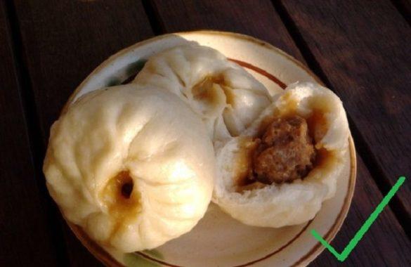 ♨ Chinesische Baozi mit Schweinefleisch