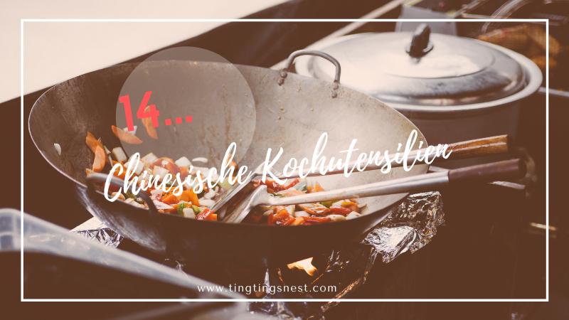 Die verschiedenen Kochutensilien in der chinesischen Küche