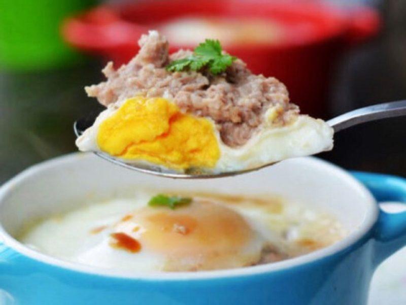 ♨ Spiegelei auf Hackfleisch (RouMo Zheng Dan) Rezept