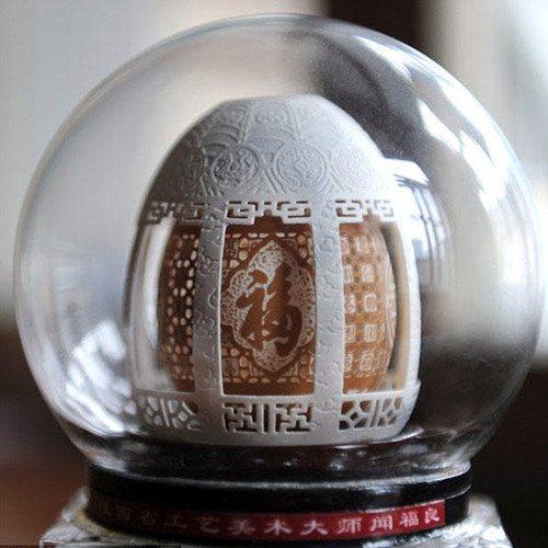 Kunstwerk aus Eierschalen