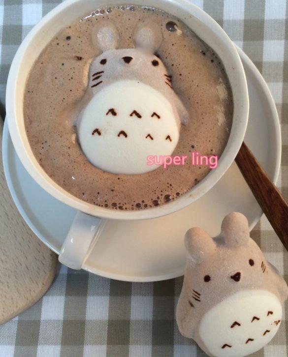 Marshmallow Totoro für den Kaffee