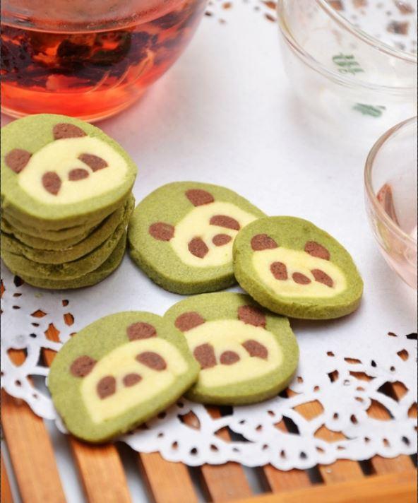 ♨ Panda Kekse aus Grüntee (Matcha) — Rezept
