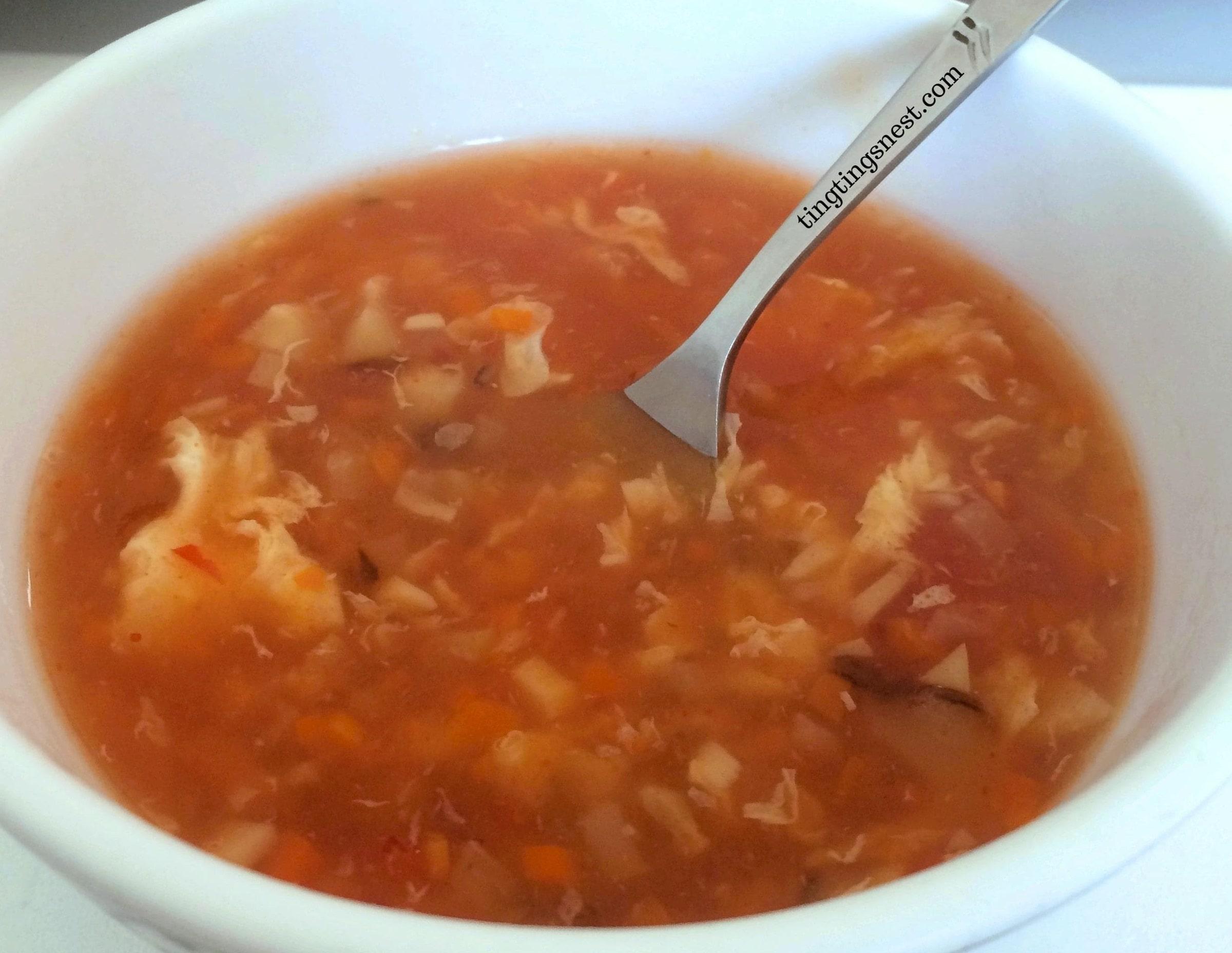 ♨ Chinesische sauer scharf Suppe (Peking Suppe)