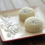 ♨ Schneehaut Mondkuchen Rezept mit roter Bohnenpaste Füllung